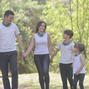 Coordinado familia Avena con animal print (tipo bufanda)