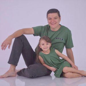 Coordinado familia Verde olivo