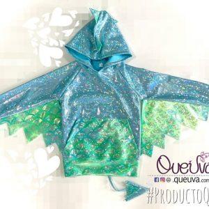 Sudadera Dragón Verde Menta Azul Cielo